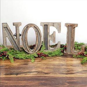One set Noel wood letters